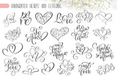 Hand Drawn Love Set - Vector Collection - Creative Fabrica