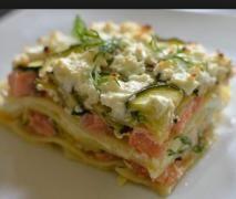lasagne au saumon et poireaux
