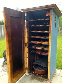 15 Homemade Smokers To Infuse Rich Flavor Into BBQ Meat Or Fish This Summer. - Expolore the best and the special ideas about Homemade smoker Fish Smoker, Barbecue Smoker, Bbq Meat, Grilling, Dyi Smoker, Homemade Smoker Plans, Bbq Grill Diy, Home Smoker, Build A Smoker