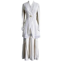 Edwardian Linen & Lace Walking Suit, c1910