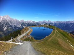 #Asitz mountain-lake in Leogang, Austria