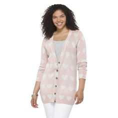 Mossimo Supply Co Plus Size Hearts Long Sleeve Cardigan Sweater ($17.48 @ Target)