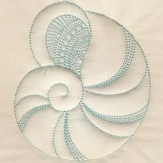 seashell embroidery designs - Google Search