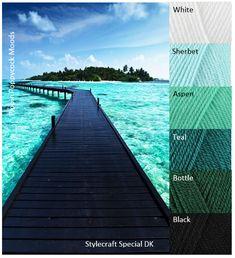 Kleurinspiratie Take a Walk / Pippin Poppycock Yarn Color Combinations, Colour Schemes, Color Trends, Mood Colors, Yarn Colors, Color Blending, Color Mixing, Colour Pallette, Color Harmony