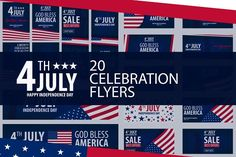 4th July. Independence day of USA by LeoEdition on @creativemarket