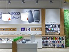 Electronic shop interior hkef 2018 ref in 2019 интерьер мага Retail Store Design, Retail Shop, Retail Interior, Home Interior, Dieter Rams, Electronics Projects, Kiosk, Mobile Shop Design, Electrical Stores