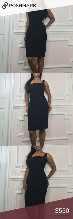 Dolce & Gabbana Classic Black Dress Fully lined in a satiny soft leopard print. Perfectly constructed to fit your figure like a second skin. Zip back. Vent at back- 5.5 inches. Gently worn- meticulously cared for - in like new condition. This dress will never go out if style and you can wear it for years. Price reflects my hesitancy to part with it and this price is firm. Dolce & Gabbana Dresses Midi