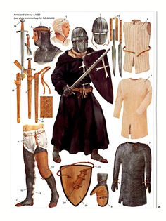 Knights - armor pieces. 13th century.