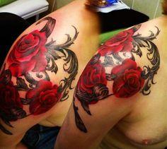 Asgard Rose Shoulder Tattoo