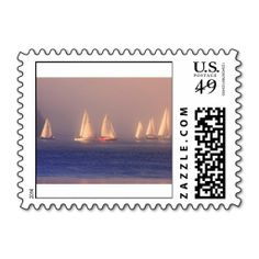 SOLD 2 sheets of Sunset Sailboats Photo Postage Stamps by FunNaturePhotography on Zazzle. #sailboats #sailing #postage #stamps