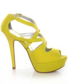 Neon Yellow Heels!