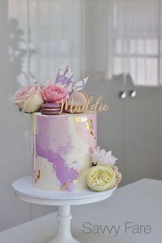 25th Birthday Cakes, Elegant Birthday Cakes, Beautiful Birthday Cakes, Beautiful Cakes, Amazing Cakes, Cake Decorating Designs, Cake Decorating Techniques, Cake Designs, Pretty Cakes