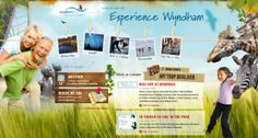 Experience Wyndham - What a fun (makes you want to explore) looking design Top Site, International Day, Travel And Tourism, Marketing Materials, Web Design Inspiration, Awesome, Amazing, Your Design, Photo Wall