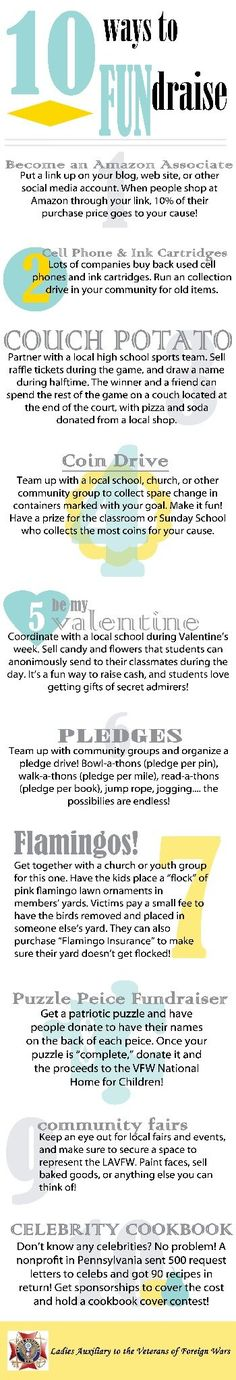 Here are 10 fun fundraising ideas to inspire your next fundraiser! Find more fun ideas for fundraisers at FundraiserHelp.com