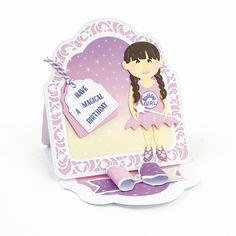 Good morning and welcome to the blog today. I have two cute girlies to share with you from the new Dressables collection from Tonic S... Tonic Cards, Kids Cards, Hobbies And Crafts, Birthday Cards, Birthdays, Card Ideas, Blog, Easel, Handmade Cards