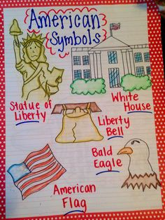 National symbols anchor chart leaders and heros pinterest american symbols anchor chart ccuart Choice Image