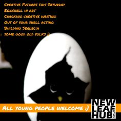 #CreativeFutures at the New Leaf Hub #Ballymena #Teeshan this Saturday The #Easter one: * Eggshell in art * Cracking creative writing * Out of your shell acting (puppets or yourself) * Building the kingdom of Serlecia * some good old yolks :)  Book your young people in Saturdays 10am to 1pm (3 hours of time for yourself) Refreshments and lunch provided   https://www.newleafhub.co.uk/creative-futures-ballymena