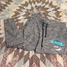 Victoria's Secret pink marble gray sweatpants L  Very good PINK Victoria's Secret Pants Track Pants & Joggers