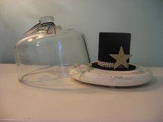 vintage glass cloche display