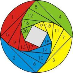 basic 4 color circle inkspired musings: Iris Folding Tutorial