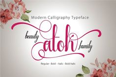 Beauty Atok Script Family (update) by mr.rabbit on Creative Market
