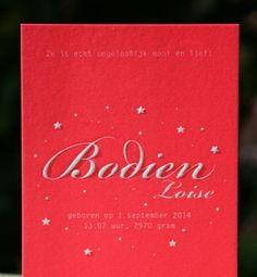 letterpers_letterpress_geboortekaartje_Bodien_relief_sterren_fluor_neon_roze_rood_ue