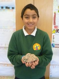 A precious rock is displayed at the Year 6 Museum of Me at Windmill School, as part of the Making Museums project at the Pitt Rivers Museum and the Oxford University Museum of Natural History.