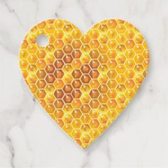 Rosh Hashanah Jewish New Year Gold Honey Comb Favor Tags - vintage heart gifts love hearts custom Yellow Pattern, Gold Pattern, Pattern Design, Happy Rosh Hashanah, Happy New Year Design, Vintage Tags, Vintage Heart, Brown Paper Packages, New Year Holidays