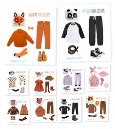 Easy, fun, dress up Animal costume ideas! Ten simple animal outfits for dressing-up and costume parties!Ten simple animal outfits for dressing-up and costume parties! Animal Costumes For Kids, Panda Costumes, Diy Halloween Animal Costumes, Kids Dog Costume, Diy Tiger Costume, Koala Costume, Animal Fancy Dress Costumes, Party Animal Costume, Kid Costumes