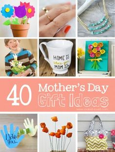 40 Homemade Mother's Day Gift Ideas - Make It and Love It.  I like the egg carton flower art project.
