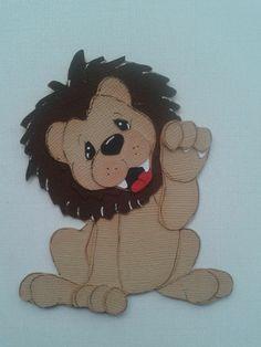 MADE TO ORDER PAPER PIECING CIRCUS LION FRIEND SUMMER TEAR BEAR *KIRA* AP4P