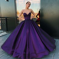 Find unique, vintage and handmade Best A-Line Round Neck Floor-Length Purple Satin Prom Dress with Pearls Special Occasion Dresses in sevengrils A-Line Round Neck Floor-Length Purple Satin Prom Dress with Pearls