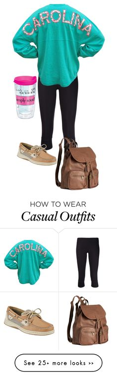 """Casual fall class day."" by leyni-smiley-gaul on Polyvore featuring ATM by Anthony Thomas Melillo, Tervis, H&M and Sperry Top-Sider"