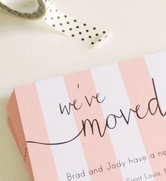 Moving Announcement  Change Of Address  New Home  Housewarming