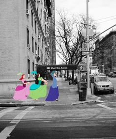 New York City Disney Princess Photos - Harry McNally | New York-based photographer Harry McNally places Disney princesses in the most New York of situations. #refinery29 http://www.refinery29.com/2015/05/79741/new-york-city-disney-princess-photos