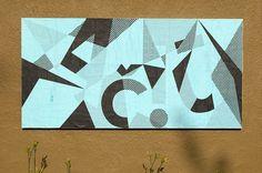 "ficciones-typografika:  ""Vaiva Braškutė, Ficciones Typografika 596-598 (24""x36""). Installed on August 4, 2014. More on Ficciones Typografika.  """