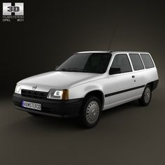 Opel Kadett E 3D 3Ds - 3D Model
