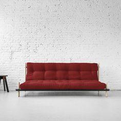 DIVANO KARUP POINT Divano letto in legno di pino scandinavo con doppia finitura BLACK e naturale