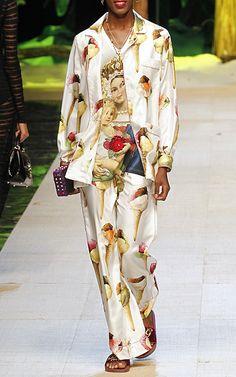 Italian Gelato Print Pant by Dolce & Gabbana   Moda Operandi