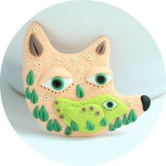 """Brooch """"Creature of polymer clay"""", any color, any size by StudioTort on Etsy"""