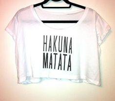 Hakuna Matata Loose Crop Top by OfIvy on Etsy