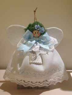 Angel Birth Announcement. Handmade Fiocco Nascita. Visit ILOVETUNDRA https://www.facebook.com/ilovetundra?fref=ts