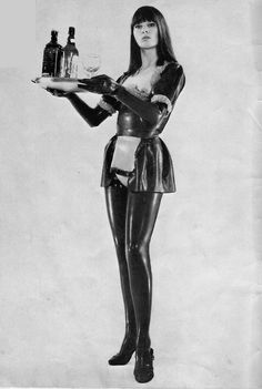 Vintage latex maid