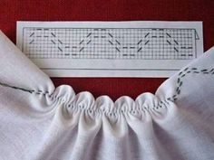 Kim Marie's Embroidery — Great illustrations as seen on the FB group Схеми. Smocking Tutorial, Smocking Patterns, Sewing Patterns, Sewing Hacks, Sewing Tutorials, Sewing Crafts, Sewing Projects, Sewing Ideas, Embroidery Stitches