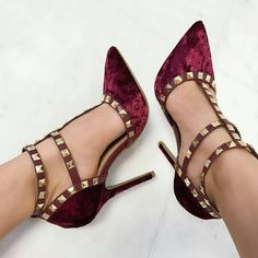 Studded Caged High Heels – Available In multiple colors Studded Velvet Heels Source by azrahacioglu The post Studded Caged High Heels – Available In multiple colors appeared first on Create Beauty. Hot Shoes, Crazy Shoes, Me Too Shoes, Shoes Heels, Pretty Shoes, Beautiful Shoes, Hot High Heels, Low Heels, Latest Shoe Trends