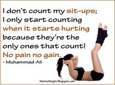 Only count the ones that hurt. Those are the ones that count!