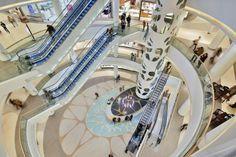 Rzeszów City Center, Shopping Mall, Court, Interior, Floor Design, Rzeszów-Poland, design Bose International Planning & Architecture