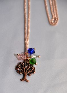 Family Tree Necklace  ~ Custom gift ~  Custom Family Charms ~ Birthstones ~ Mother's Gift ~ Grandmother's Gift ~ Celtic Promise by DivinityBraid on Etsy
