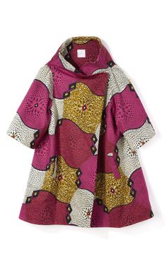 awesome Crater-Print Wax Cotton Coat by Stella Jean - Moda Operandi African Inspired Fashion, African Print Fashion, Africa Fashion, Ethnic Fashion, African Print Dresses, African Fashion Dresses, African Dress, African Prints, Ankara Fashion