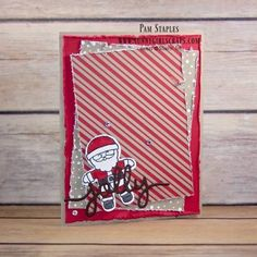Cookie Cutter Christmas card created by Pal Staples, SunnyGirlScraps.  Visit my blog, www.sunnygirlscraps.com for more creative inspiration or to order Stampin' Up! Supplies today.